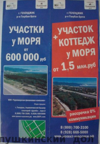 Реклама Пушкинский дол