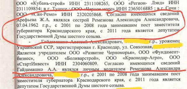 Фамилия зама Ткачева тоже попала в уголовное дело