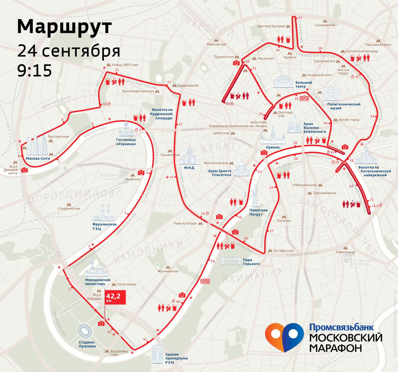 Маршрут марафона