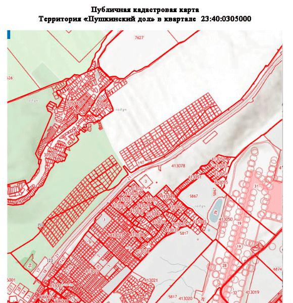 Кадастровая карта Пушкинский дол